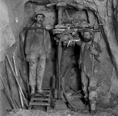 Miners in an unnamed mine near Ouray